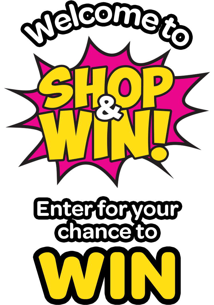 shop and win banner